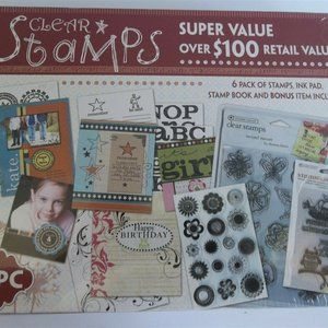 Clear Stamps Westrim Crafts Set Ink Pad Book